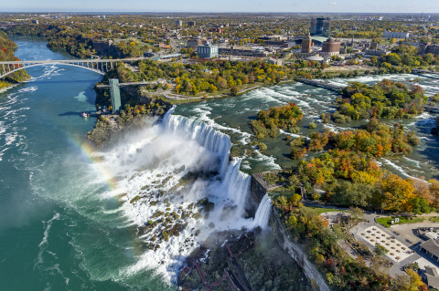 Aerial views of the American Falls at Niagara Falls State Park. (Photo: Business Wire)