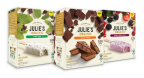 Julie's Organic introduces two new ice cream bars – Mint Chip and Mixed Berry Chip – and expands its best-selling ice cream sandwich line with a Fudge Swirl square. (Photo: Business Wire)