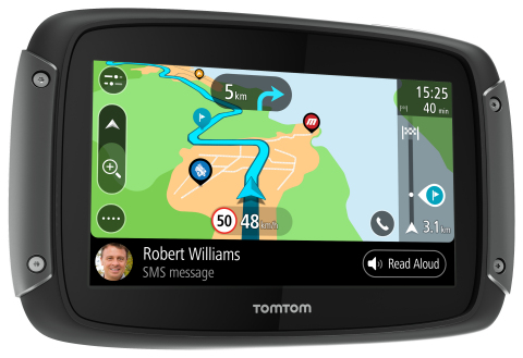 TomTom Launches New Navigation for Motorbike Riders: the TomTom RIDER 550 (Photo: Business Wire)