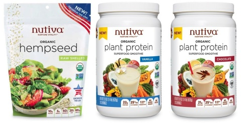 Nutiva®, pioneer of plant-based organic superfoods that nurture vitality, is debuting new USA-Grown Organic Hempseed, the first USDA Certified Organic hempseed product grown entirely in the United States from a national organic brand, and Organic Plant Protein Superfood Smoothies (in Chocolate and Vanilla flavors) at 2018 Natural Products Expo West. (Photo: Business Wire)