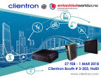 Clientron to exhibit its latest embedded computing and intelligent solutions at Embedded World 2018 (Graphic: Business Wire)