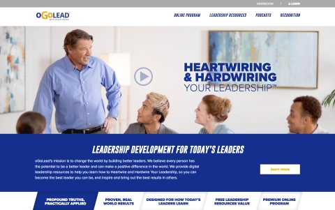 David Novak Launches oGoLead 'Heartwiring and Hardwiring Your Leadership™' Digital Training Program (Photo: Business Wire)
