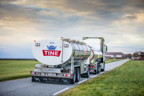 TINE goes further with optimized logistics. Credit: Bo Mathisen