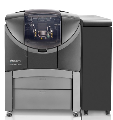 The Stratasys Objet260 Dental 3D Printer is specifically designed to accelerate use of professional- ...