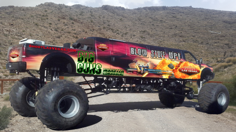 The world's longest Monster Truck is now being offered as the ultimate trade show traffic builder.(Photo: Business Wire)
