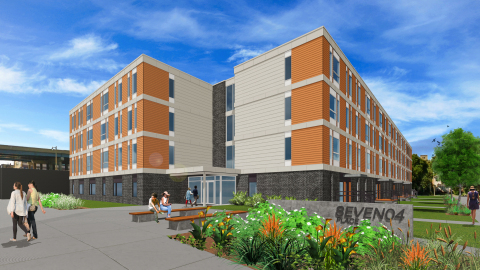 Rendering of SEVEN04 PLACE, a 60-unit affordable-housing development in the Walker's Point neighborhood of Milwaukee (Photo courtesy of Impact Seven).