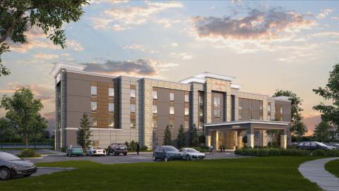 Rendering of the newly opened Hampton Inn by Hilton Wichita Northwest property in Kansas. (Photo: Bu ...