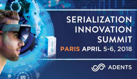 Les 5 et 6 avril à PARIS, l'Adents Serialization Innovation Summit dévoilera les technologies innovantes qui dessinent le futur de la supply chain pharmaceutique (Photo: Adents)