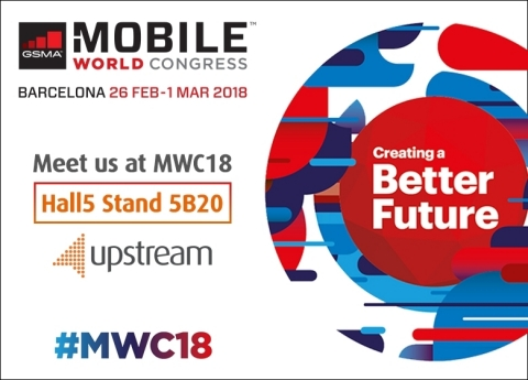 Upstream at MWC 2018 (Graphic: Business Wire)