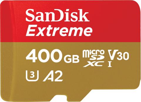 World's fastest UHS-I microSD card, new 400GB SanDisk Extreme microSDXC flash memory card (Photo: Bu ...