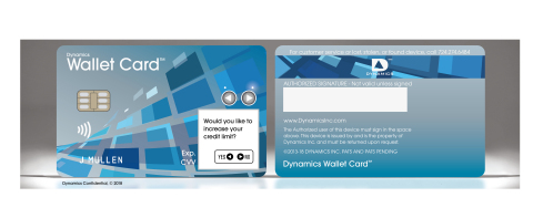 Dynamics Inc., unveiled new two-way communications features of the Connected Wallet Card™ at Mobile World Congress. (Graphic: Business Wire)