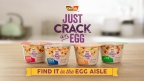 Introducing Just Crack an Egg, the first product on the market that offers a hot, savory egg scramble in under two minutes, just by adding a fresh egg.(Photo: Business Wire)