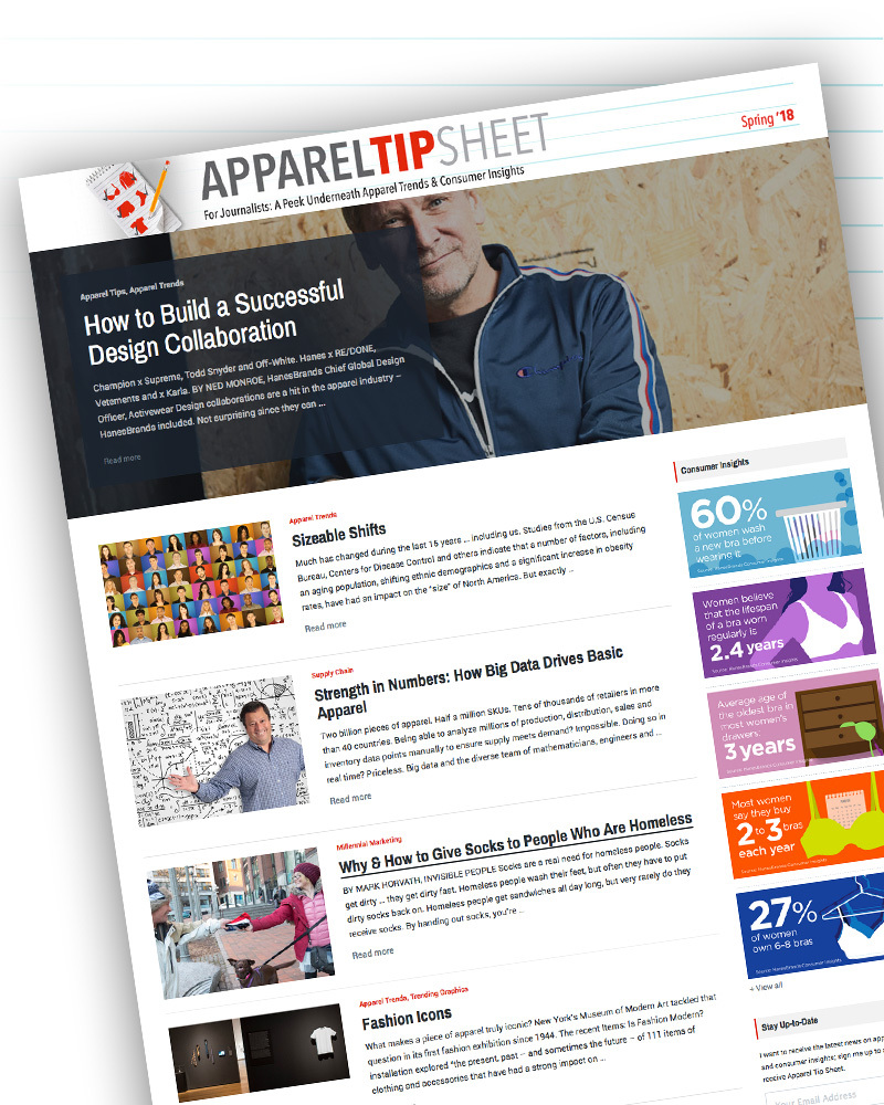 HanesBrands Publishes Spring 2018 Edition of Apparel Tip Sheet   Business  Wire