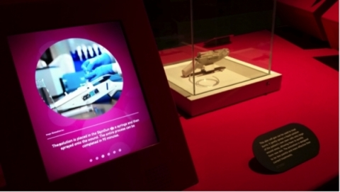 RenovaCare SkinGun™ Stem Cell Sprayer on Exhibit at the Science Museum in London (Photo: Business Wire)