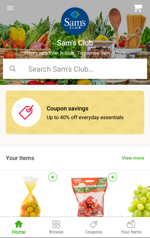 Sam's Club on the Instacart app (Photo: Business Wire)