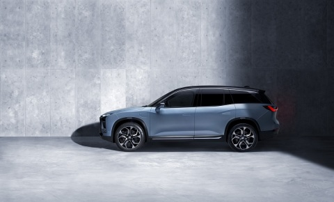 ES8, NIO's first electric all-aluminum vehicle, which the company intends to position in the Chinese electric vehicles mass market (Photo: Business Wire)