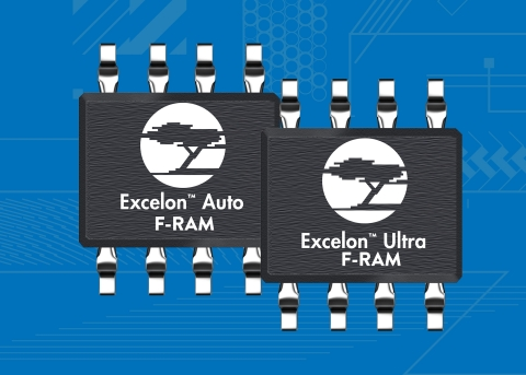 Pictured is Cypress' Excelon™ F-RAM™ memory family that delivers high-speed nonvolatile data logging ...