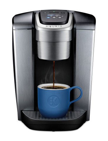 The K-Elite™ coffee maker blends premium finishes with programmable features to deliver the most beverage customization in any Keurig® single cup coffee maker model in a bold, modern look. (Photo: Business Wire)