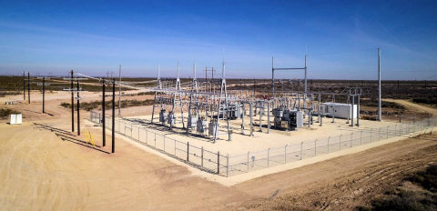 Electric high voltage substation serving Parsley Energy's Southern Delaware Basin power needs. (Photo: Business Wire)