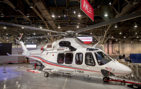 The Waypoint MUH presented with Leonardo at HAI HeliExpo 2018 (Photo: Business Wire)