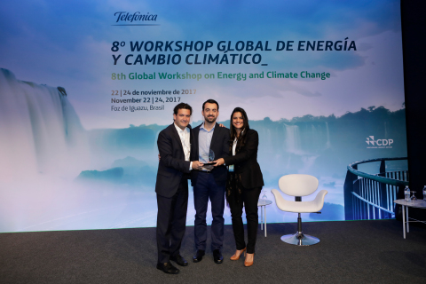 "Vertiv was recently awarded by Telefónica as ""Best Partner of the Year"" at the 8th Global Workshop on Energy and Climate Change. This accolade acknowledged Vertiv for the outstanding contribution to Telefónica's Energy Efficiency Program, awarded by the GSMA with the Green Mobile Award in 2016. (Photo: Business Wire)"