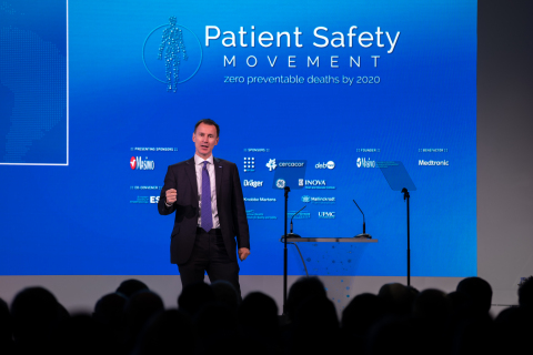 England's Health and Social Care Secretary, Rt. Hon. Jeremy Hunt, launches groundbreaking new measures on Day One of the 6th Annual World Patient Safety, Science & Technology held in London (Photo: Business Wire)