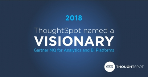 ThoughtSpot named a Visionary in the 2018 Gartner Magic Quadrant for Analytics and Business Intelligence Platforms (Graphic: Business Wire)