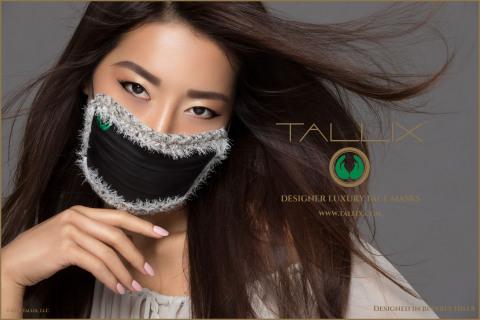 高級アクセサリーブランドのTallixは本日、初の製品ラインとして、大気汚染から着用者を守るおしゃれなフィルターマスクの発売を発表。(写真:ビジネスワイヤ)