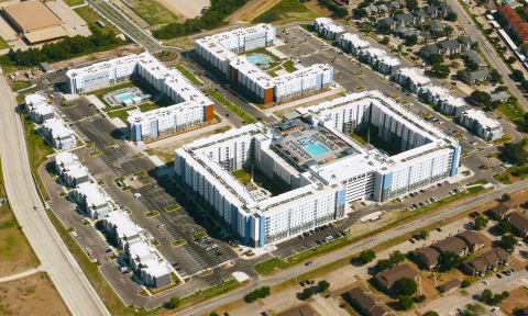 The Weitz Company was named a Merit winner in the Associated General Contractors of America's 2018 Build America awards program for its construction of Park West, the largest student housing development built in the United States under a Public-Private Partnership. (Photo: Business Wire)