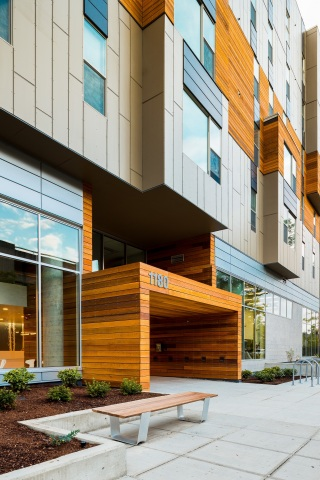 Uncommon Eugene (Eugene, Ore.): Uncommon Eugene, located just a half-mile from the University of Oregon, is a 380-bed student housing community developed by CA Ventures and completed in 2014. (Photo: Business Wire)