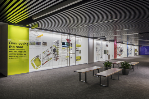 The Exhibition Hall inside the new 3M Innovation Center in Washington, D.C. highlights 3M science for key markets. (Photo: Business Wire)