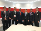 Executives from Keysight Technologies, Unigroup Spreadtrum & RDA sign Memorandum of Understanding to Extend Existing Collaboration in 5G Technology at Mobile World Congress 2018. From Left to Right: Jeffrey Chen, Jin Wang, JingMing Wang, Satish Dhanasekaran, Adam Zeng, Kailash Narayanan, and Jinming Zhao. (Photo: Business Wire)
