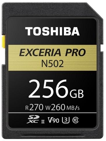東芝メモリ株式会社:ビデオスピードクラス90(V90)に対応したSDメモリカード (写真:ビジネスワイヤ)