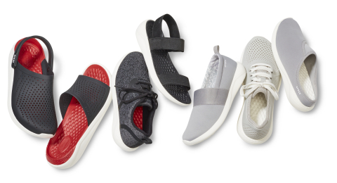The LiteRide™ Collection merges sporty, on-trend styles and silhouettes with the legendary Crocs comfort that consumers expect.(Photo: Business Wire)