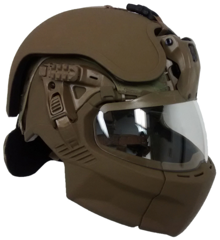 "Popular Mechanics described the Integrated Head Protection System (IHPS) as ""straight out of science fiction"". (Photo: 3M)"