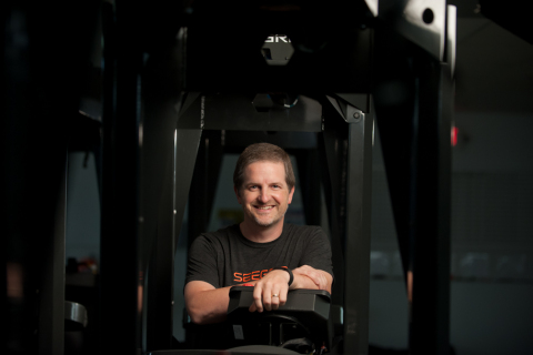 Seegrid's Jeff Christensen awarded for his innovation with connected self-driving vehicles(Photo: Business Wire)