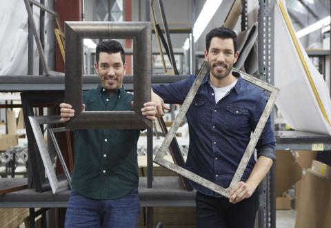 Michaels Collaborates With Drew and Jonathan Scott On Custom Framing Collection (Photo: Business Wire)
