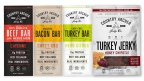 Country Archer Cayenne Beef Bar, Sweet BBQ Bacon Bar, Herb Citrus Turkey Bar and Honey Chipotle Turkey Jerky (Photo: Business Wire)