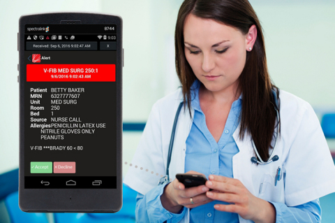 Spok and Spectralink empower clinicians at the point of care by delivering critical information from ...