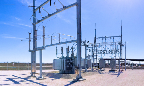 Electric high voltage substation serving Tex-Isle Supply's Robstown Plant. (Photo: Business Wire)