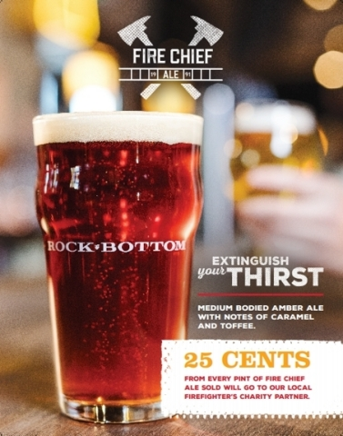Rock Bottom Restaurant & Brewery Hosts National Charitable Events to Benefit Local Firefighters