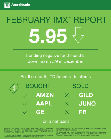 TD Ameritrade February 2018 Investor Movement Index (Graphic: TD Ameritrade)