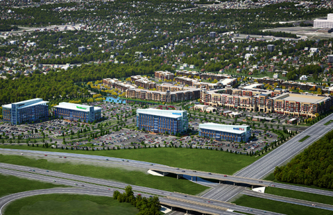 A rendering depicting CityPlace, the location of Mediware's new world headquarters in Overland Park, Kansas. Mediware will move from its current offices in Lenexa, Kansas when the new 66,000+ square-foot headquarters is complete in mid-2019. Credit: Block Real Estate Services, LLC