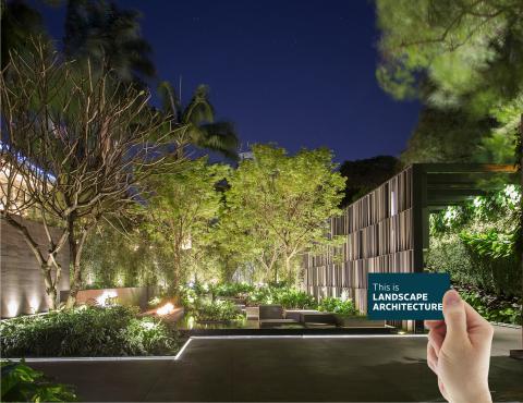 Composite includes The Entrance Garden, designed by Alex Hanazaki Paisagismo. 2017 ASLA Honor Award, General Design Category. Photo Credit: Yuri Seródio