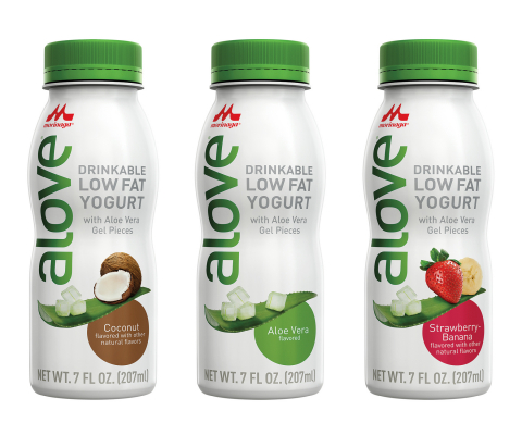 Alove to Debut Aloe Vera Drinkable Low-fat Yogurt at Natural Products Expo West (Photo: Business Wir ...