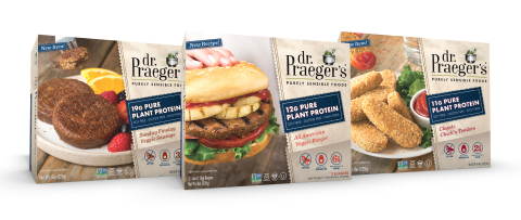 Dr. Praeger's new Pure Plant Protein line debuts at Natural Products Expo West (booth #453). (Photo: Business Wire)