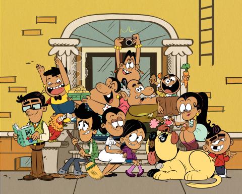 Pictured (Back row L-R): Nickelodeon's the Casagrande family; CJ, Grandma Rosa, Frida, Grandpa Hecto ...