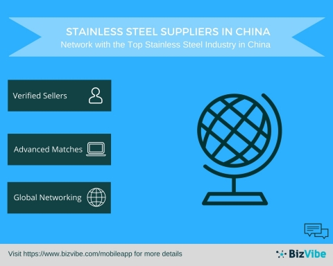 Stainless Steel Suppliers in China - BizVibe Announces a New B2B Networking Platform for Stainless Steel Industry in China (Graphic: Business Wire)