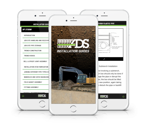 New app from Advanced Drainage Systems, Inc. provides installation instructions for its thermoplasti ...