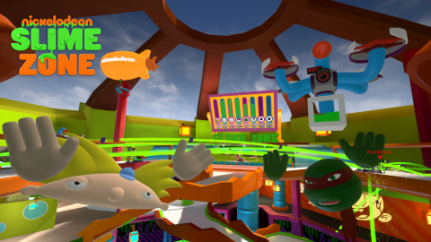 In partnership with IMAX, Nickelodeon is bringing SlimeZone--its first multi-player, social VR experience--to select IMAX VR Centres globally this month. (Photo: Business Wire)